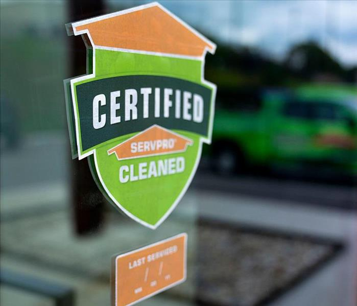 SERVPRO sticker in window